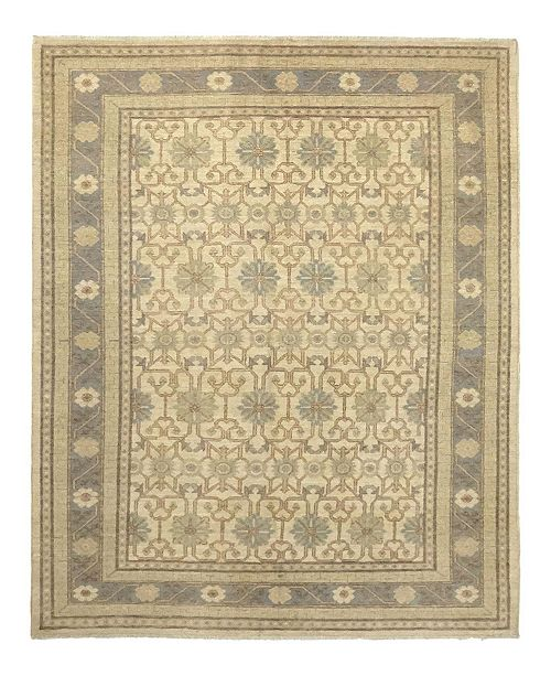 "Timeless Rug Designs CLOSEOUT! One of a Kind OOAK919 Hazelnut 6'3"" x 8'10"" Area Rug"
