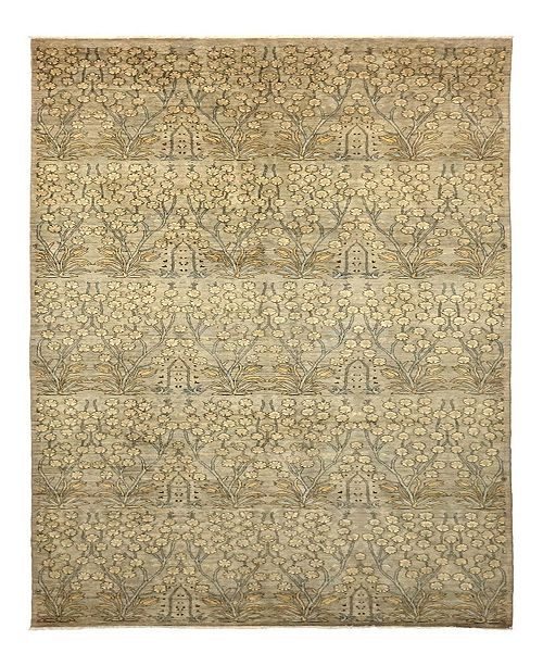 "Timeless Rug Designs CLOSEOUT! One of a Kind OOAK966 Beige 6'1"" x 12'5"" Area Rug"