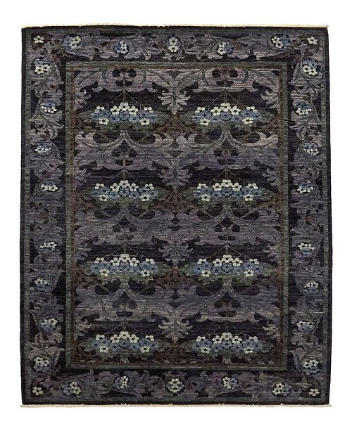 """Timeless Rug Designs CLOSEOUT! One of a Kind OOAK1043 Lavender 6'2"""" x 8'9"""" Area Rug"""