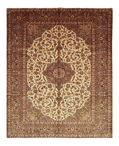 """Timeless Rug Designs CLOSEOUT! One of a Kind OOAK1576 Cream 9' x 12'5"""" Area Rug"""