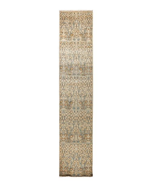 """Timeless Rug Designs CLOSEOUT! One of a Kind OOAK1692 Cream 3'1"""" x 11'8"""" Runner Rug"""