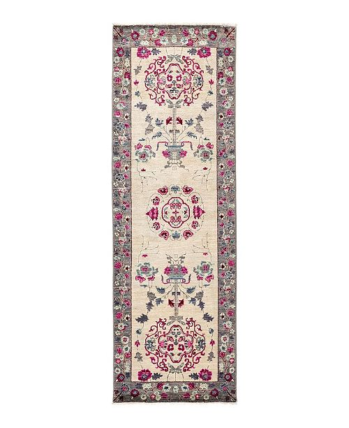 """Timeless Rug Designs CLOSEOUT! One of a Kind OOAK1703 Ivory 2'7"""" x 7'10"""" Runner Rug"""