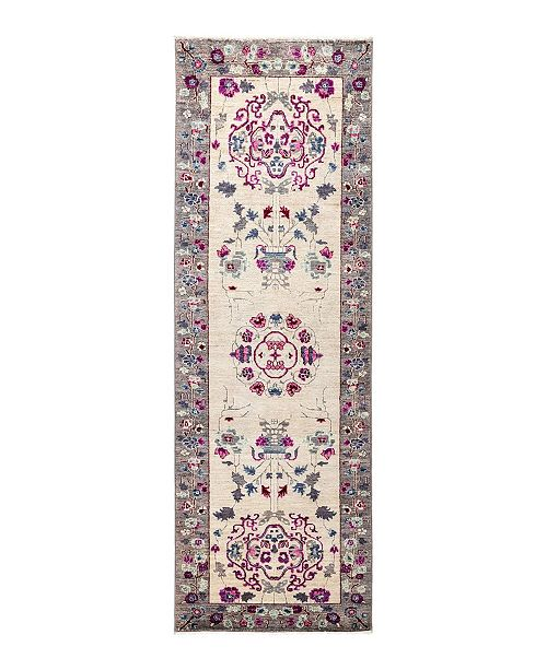 """Nourison CLOSEOUT! Timeless Rug Designs One of a Kind OOAK1690 Ivory 2'6"""" x 7'10"""" Runner Rug"""