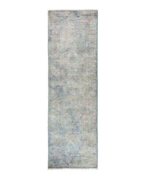 "Timeless Rug Designs CLOSEOUT! One of a Kind OOAK1742 Silver 2'7"" x 8'1"" Runner Rug"