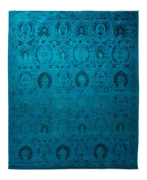 """Timeless Rug Designs CLOSEOUT! One of a Kind OOAK1907 Blue 8'1"""" x 10'1"""" Area Rug"""