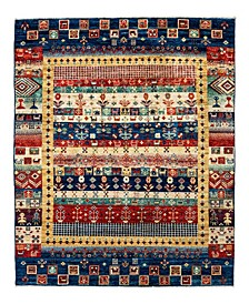 "Timeless Rug Designs One of a Kind OOAK2184 Navy 4'10"" x 6'9"" Area Rug"