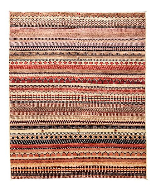 """Timeless Rug Designs CLOSEOUT! One of a Kind OOAK2828 Caramel 4'1"""" x 6'3"""" Area Rug"""