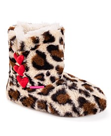 Women's Heart Slipper Booties