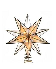 10-Light 15-Point Star Capiz Treetop