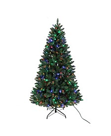 7-Foot Multi LED Pre-Lit Pine Tree