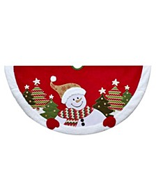 48-Inch Velvet Snowman Tree Skirt