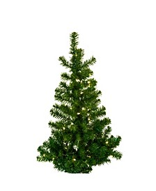 36-Inch Pre-Lit Norway Pine Wall Tree