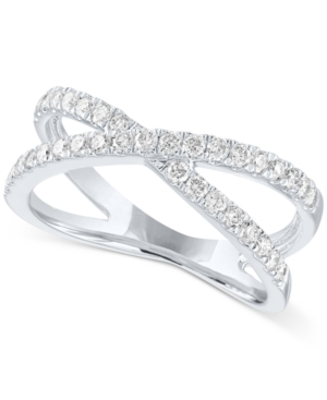 Open Setting Lab Grown Diamond Statement Ring in Sterling Silver