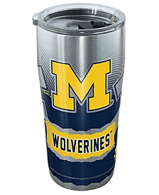 Michigan Wolverines 20oz Knockout Stainless Steel Tumbler