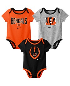 Baby Cincinnati Bengals Icon 3 Pack Bodysuit Set
