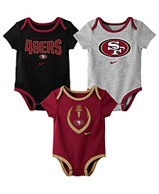 Baby San Francisco 49ers Icon 3 Pack Bodysuit Set
