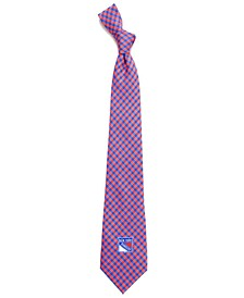 New York Rangers Poly Gingham Tie