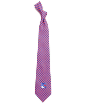 New York Rangers Poly Gingham Tie