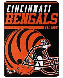 Northwest Company Cincinnati Bengals Micro Raschel 40 Yard Dash Blanket
