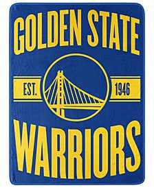 Golden State Warriors Micro Raschel Clear Out Blanket