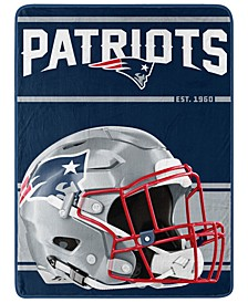 New England Patriots Micro Raschel Run Blanket