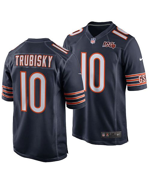 Nike Men's Chicago Bears NFL 100th Patch Game Jersey