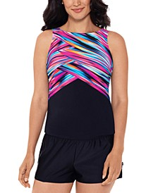 High-Neck Tankini Top & Bottoms