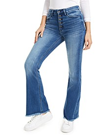 Fray-Hem Flare Bootcut Jeans