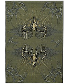 "Designer Contours Buckwear Legend Killers 514 24766 35C Brown 2'7"" x 4'2"" Area Rug"