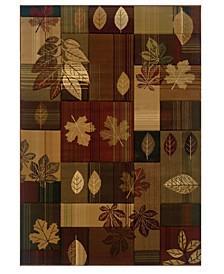 """Designer Contours Cem Autumn Bliss 511 25159 35C Toffee 2'7"""" x 4'2"""" Area Rug"""