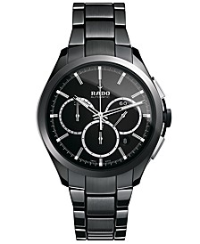 Watch, Men's Swiss Automatic Chronograph Hyperchrome Black High-Tech Ceramic Bracelet 45mm R32275152