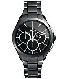 Rado Watch, Men's Swiss Automatic Chronograph Hyperchrome Black High-Tech Ceramic Bracelet 45mm R32275152
