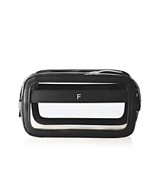 Personalized Large Vegan Leather Travel Cosmetic Case