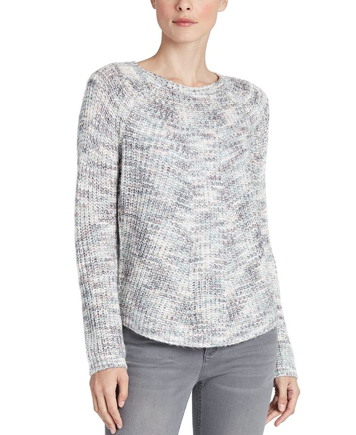 Jones New York - Marled Raglan-Sleeve Sweater