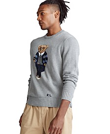 Men's Polo Bear Cotton Sweater
