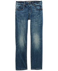 Men's Belmore Classic-Fit Power Stretch Jeans with Magnetic Fly and Stay-Put Closure