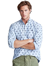 Men's Classic Fit Tiger-Print Shirt