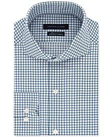 타미 힐피거 체크 셔츠 Tommy Hilfiger Mens Classic/Regular-Fit Non-Iron THFlex Supima Stretch Check Dress Shirt,Hunter