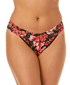 Women's Original Rise Pretty Poppies One Size Thong 6B1186