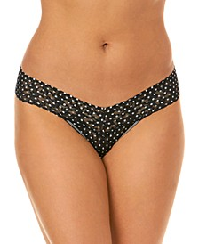 Women's Low Rise Snowfall One Size Thong 2Q1586