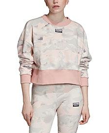 adidas Originals Women's Cotton Camo Sweatshirt