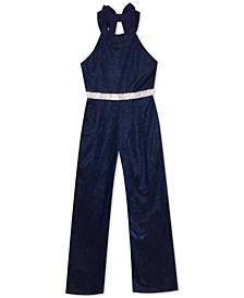 Big Girls Sparkle-Knit Jumpsuit