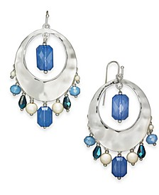 Silver-Tone Crystal, Bead & Imitation Pearl Shaky Drop Earrings, Created For Macy's