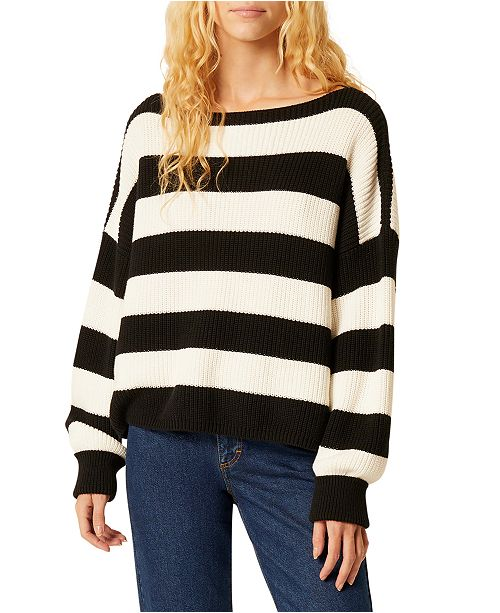 French Connection Mozart Stripe Cotton Sweater