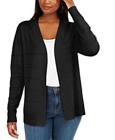 Pointelle Open-Front Cardigan, Created for Macy's