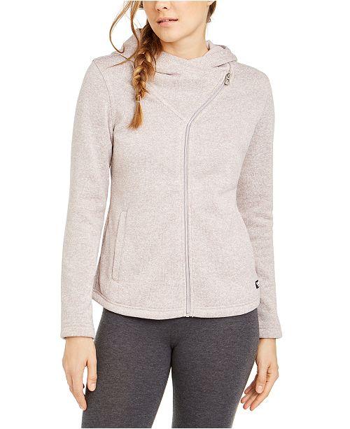 Calvin Klein Asymmetrical-Zip Hooded Jacket
