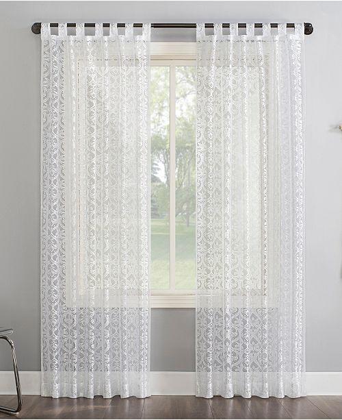 "Lichtenberg No. 918 Hope 50"" x 84"" Macrame Lace Sheer Curtain Panel"