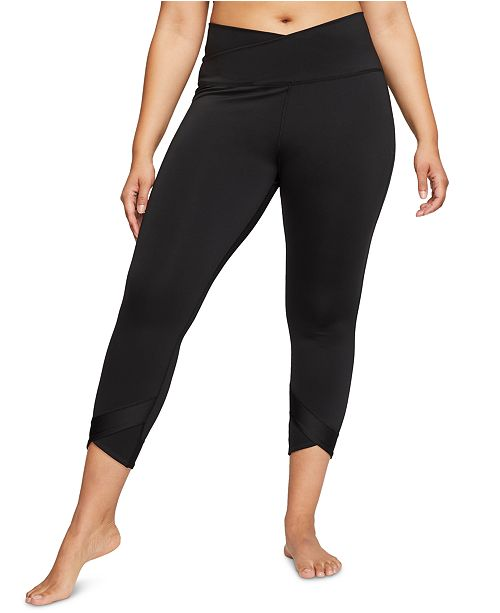 Nike Plus Size Dri Fit 7 8 Yoga Training Tights Reviews Pants Leggings Plus Sizes Macy S