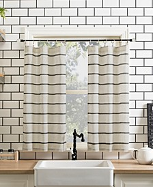 "Twill Stripe 52"" x 24"" Anti-Dust Cafe Curtain Set"