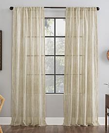"Bamboo Stripe 50"" x 84"" Sheer Curtain Panel"